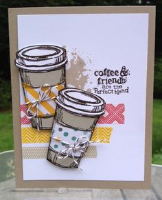 "Stampin' Up!""s Perfect Blend and Gorgeous Grunge stamp sets."