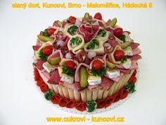 slaný dort,  www.cukrovi-kuncovi.cz  obložené chlebíčky, jednohubky, kanapky, obložené mísy, svatební cukroví, zákusky, dorty, koláčky, čajové pečivo Kuncovi, Brno - Maloměřice, Hádecká 8 www.cukrovi-kuncovi.cz/studena-kuchyne/slane-dorty Cheesecake, Desserts, Food, Tailgate Desserts, Deserts, Cheesecakes, Essen, Postres, Meals