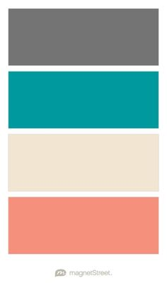 Charcoal, Teal, Champagne, and Coral Wedding Color Palette - custom color…