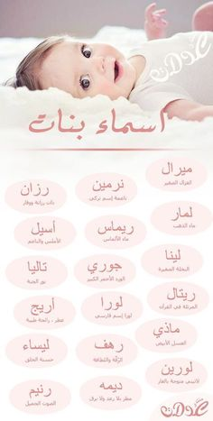 Arabic Baby Girl Names, Muslim Baby Names, Vie Motivation, Baby Education, Health Education, Beautiful Arabic Words, Islam Facts, Funny Arabic Quotes, Learning Arabic