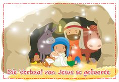 Die verhaal van Jesus se geboorte Christmas Bible, Christmas Nativity, A Christmas Story, Christmas Colors, Coloring Books, Coloring Pages, Christmas Coloring Sheets, Bible Verses, Education