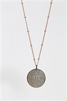 Hey, I found this really awesome Etsy listing at https://www.etsy.com/listing/249062735/pave-diamond-disc-necklaces-pave