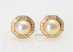 Tiffany's Pearl and Diamond Earrings