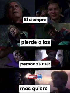 Memes Marvel Y DC - Force Tutorial and Ideas Avengers Memes, Marvel Memes, Marvel Dc Comics, Marvel Avengers, Spiderman 2, Amazing Spiderman, Dc Memes, Funny Memes, Mundo Marvel