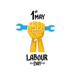 Illustration about 1 may - labour day. vector labour day poster or workers day banner. Illustration of revolution, date, labor - 70200273 Holi Greeting Cards, Holi Greetings, 1st May Labour Day, Workers Day, Poster Background Design, May Days, Wood Worker, Illustrator Tutorials, Christmas Wallpaper