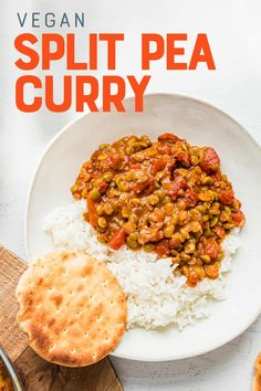 This Easy Vegan Split Pea Curry recipe is bursting with exotic flavors thanks to a secret ingredient! This 7-ingredient dinner is warm, hearty, and completely plant-based. Unique Recipes, Indian Food Recipes, Asian Recipes, Ethnic Recipes, Healthy Eating Recipes, Vegetarian Recipes, Cooking Recipes, Healthy Food, Fast Easy Meals