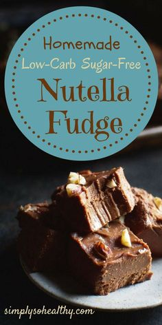 This Low-Carb Homemade Nutella Fudge is the perfect guilt-free and decadent treat for the holidays. This dessert is suitable to those following a low carb, LCHF, Atkins, sugar-free, ketogenic, Banting, and diabetic diets.