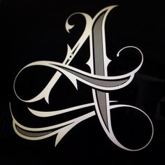✍️ Sensual Calligraphy Scripts ✍️ initials, typography styles and calligraphic art - Jared Mirabile Tattoo Lettering Fonts, Graffiti Lettering, Lettering Styles, Lettering Design, Hand Lettering, Calligraphy Letters, Typography Letters, Tattoo Painting, Letras Tattoo