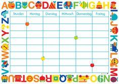 Stundenplan zum gratis Runterladen. Freebie Stundenplan im Graziela Design perfekt für alle Schulanfänger. Hüpft auf unseren Blog zum Download. Planer, Free Printables, Life Hacks, School, Prints, Kids, Blog, Home, Organization