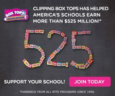 Join The Box Tops For Education Program To Help Local Schools!