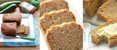 Pan de calabacín, libre de gluten