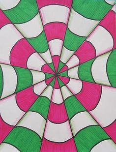Runde's Room: Optical Illusions in Art Class - an easy to complete art project that students will be proud of