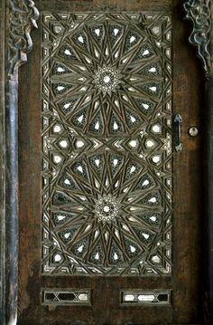 Intricate geometric design door