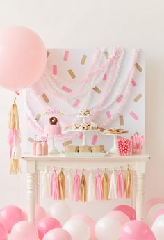 An adorable children's Donut themed Birthday Party that's perfect for a little girl or boy. Donut Decorations, donut party food ideas and a backdrop full of sprinkles. Creative birthday party inspiration from Happy Wish Company. Donut Party, Donut Birthday Parties, Girl Birthday, Birthday Ideas, Birthday Wishes, Donut Decorations, Birthday Party Decorations, Theme Parties, Babyshower Party