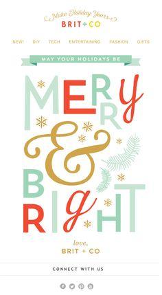 Merry & Bright typography design