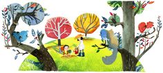 Chinese Arbor Day 2012 [День посадки деревьев в Китае – 2012] /This doodle was shown: 12.03.2012 /Countries, in which doodle was shown: China, Taiwan