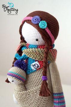 Crochet Patterns Amigurumi, Amigurumi Doll, Crochet Toys, Crochet Doll Tutorial, Crochet Mignon, Crochet Dolls Free Patterns, Child Doll, Knitted Dolls, Cute Crochet