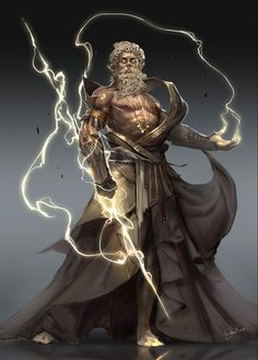 Another representation of Zeus done on the computer. The lightening bolts shows the power and the huge strength he has. Age of Pantheons Zeus Mythology Art, Zeus, Fantasy Artwork, Fantasy Art, Mythology Tattoos, Fantasy Character Design, Art, Mythology, Greek Mythology Art