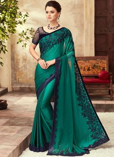 Pothys proudly presents the best destination for Silk Sarees online shopping. Buy Pure silk sarees, wedding silk sarees online and make your D - days festive. Absolute fashions including dresses for women, Men and Kids. Party Wear Sarees Online, Party Sarees, Wedding Sarees, Satin Saree, Chiffon Saree, Saree Dress, Saree Blouse, Green Saree, Blue Saree