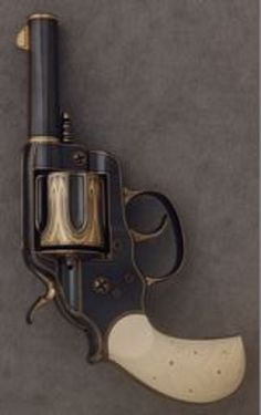 Colt 1878 Double-Action Frontier Sheriff's Model Revolver, c. 1900;   Steel, gold, and ivory