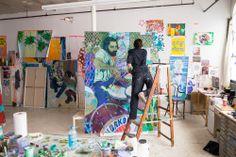 donstahl:  Hope Gangloff in her studio LIC, 2015
