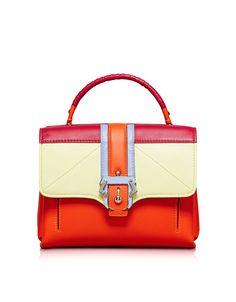 a0a57267c9c9 Paula Cademartori Petite Faye Colorblock Orange Satchel Bag