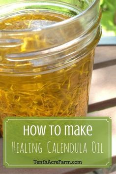 Herbal infused oils are simple to make at home. Make your own healing calendula oil to keep in your first aid kit for use on scrapes, burns, and other skin ailments.