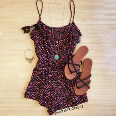 Teagan Floral Romper #Fashion #style #cute #floral #romper #ootd #Spring #trendy #ShopPriceless