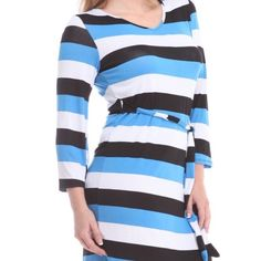 Striped Summer Dress Brand New, size 2x, better suited for 1x.  Lightweight and comfortable. Bellino Clothing Dresses Mini