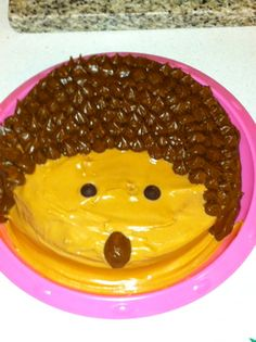 other pinner: Hedgehog cake I made for my baby girl's first birthday.