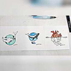 """""""A arte que limpa a alma """" mini novas aquarelas !!! #aquarela#criacao ♡"""