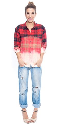Red Bleached Flannel