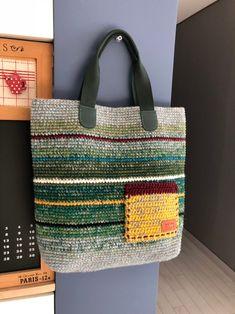 Granny Square Häkelanleitung, Granny Square Crochet Pattern, Crochet Bag Tutorials, Crochet Crafts, Free Crochet Bag, Knit Crochet, Crochet Rug Patterns, Diy Bags Purses, Knit Basket