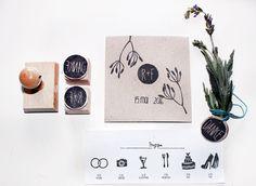 Hochzeitsstempel, personalisiertes Set von halfbird auf DaWanda.com