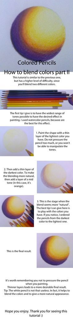 Colored Pencils - Blending Tutorial Part II by Sahri-Art on deviantART
