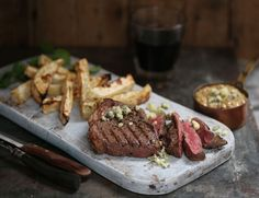 Rump Steaks with Celeriac Chips & Blue Cheese Sauce Recipe | Abel & Cole