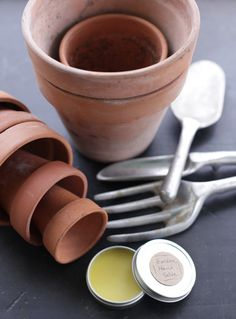 Make your own hand salve for after gardening hand repair.