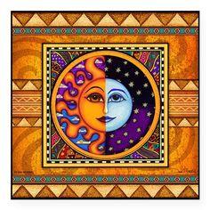 "Dan Morris Eclipse Design Square Sticker 3"" x 3"""