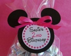 Minnie Mouse Favor Tags Set of 5 di CraftyMamaBeads su Etsy