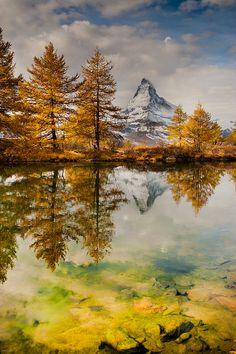 "Grünsee (""Green Lake""), near Zermatt, Switzerland"