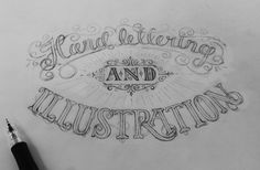 Hand Lettering & Illustration by Ludvig Nevland, via Behance