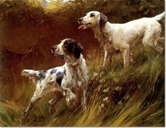 Thomas Blinks - English Setters Painting
