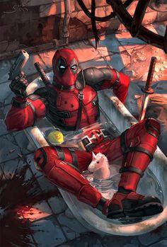 deadpool wade wilson marvel swords masks bloody violence burnt avengers x force Deadpool Y Spiderman, Deadpool Pikachu, Deadpool Funny, Deadpool Quotes, Deadpool Tattoo, Deadpool Costume, Deadpool Movie, Marvel Art, Marvel Dc Comics