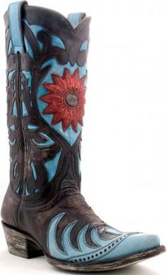 Womens Old Gringo Whit Boots Chocolate #L666-1 cute