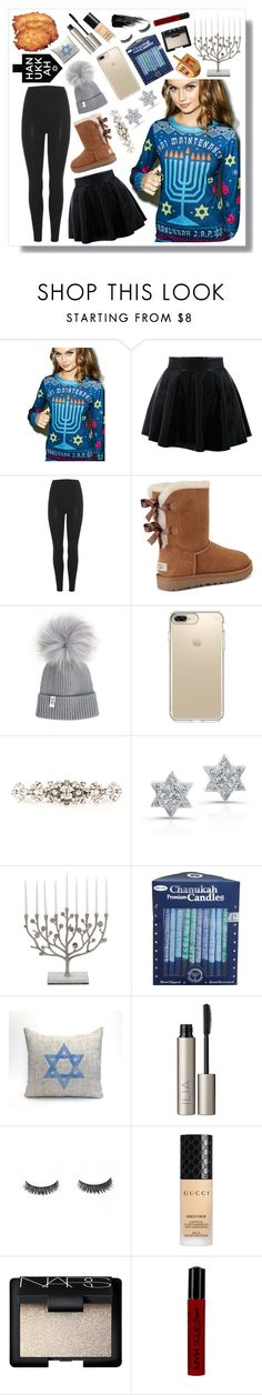 """""""Happy Hanukkah 🕎✡️ who needs one night of presents when we've got 8?!"""" by dancewithshira ❤ liked on Polyvore featuring FAUX/real, adidas Originals, UGG, Speck, Dolce&Gabbana, Anne Sisteron, Michael Aram, Ilia, Gucci and NARS Cosmetics"""