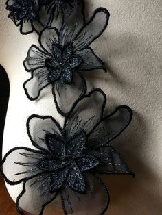 Couture Embroidery, Embroidery Dress, Ribbon Embroidery, Beaded Embroidery, Embroidered Lace, Hand Embroidery Stitches, Hand Embroidery Designs, Embroidery Patterns, Dress Design Sketches