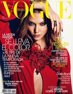 Karlie Kloss en la portada del número de febrero de Vogue España.  #Cover #Fashion #Magazine