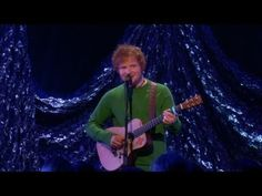 """Ed Sheeran Performs 'The A-Team' on the Ellen show!!! Love the way he says """"dry throat"""". :) And he said """"thank you"""" with the biggest smile on his face! Everyone got a copy of his new album! Wish I did. Love you ginger guy!"""
