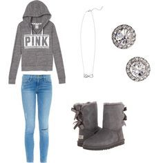 casual by vidhip348 on Polyvore featuring polyvore fashion style Frame Denim UGG Australia OroClone