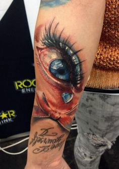 3D Eye Tattoo - Moni Marino http://best3dtattoos.com/eye-3d-tattoos/3d-eye-tattoo/